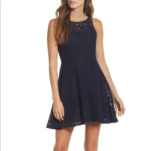 BB DAKOTA Renley Lace Fit & Flare Minidress Size 4